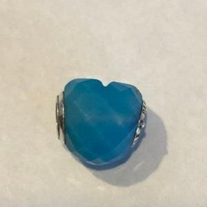 PANDORA SHAPE OF LOVE SCUBA BLUE CHARM